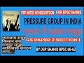 PRESSURE GROUPS IN INDIA