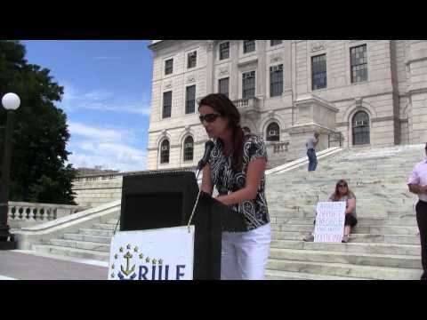 Stacia Petri (R) Speaks At Immigration Enforcement Rally 7-26-14