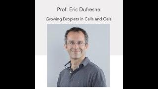 NSCS Online Seminar - Prof. Eric Dufresne