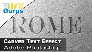 Photoshop Ciselé dans la Pierre de Texte : Comment Faire Ciselé dans la Pierre de Texte Photoshop CC 2019 Tutoriel