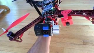 Alien X-Mode Quadcopter APM 2.6 3D Printed Gimbal Mount