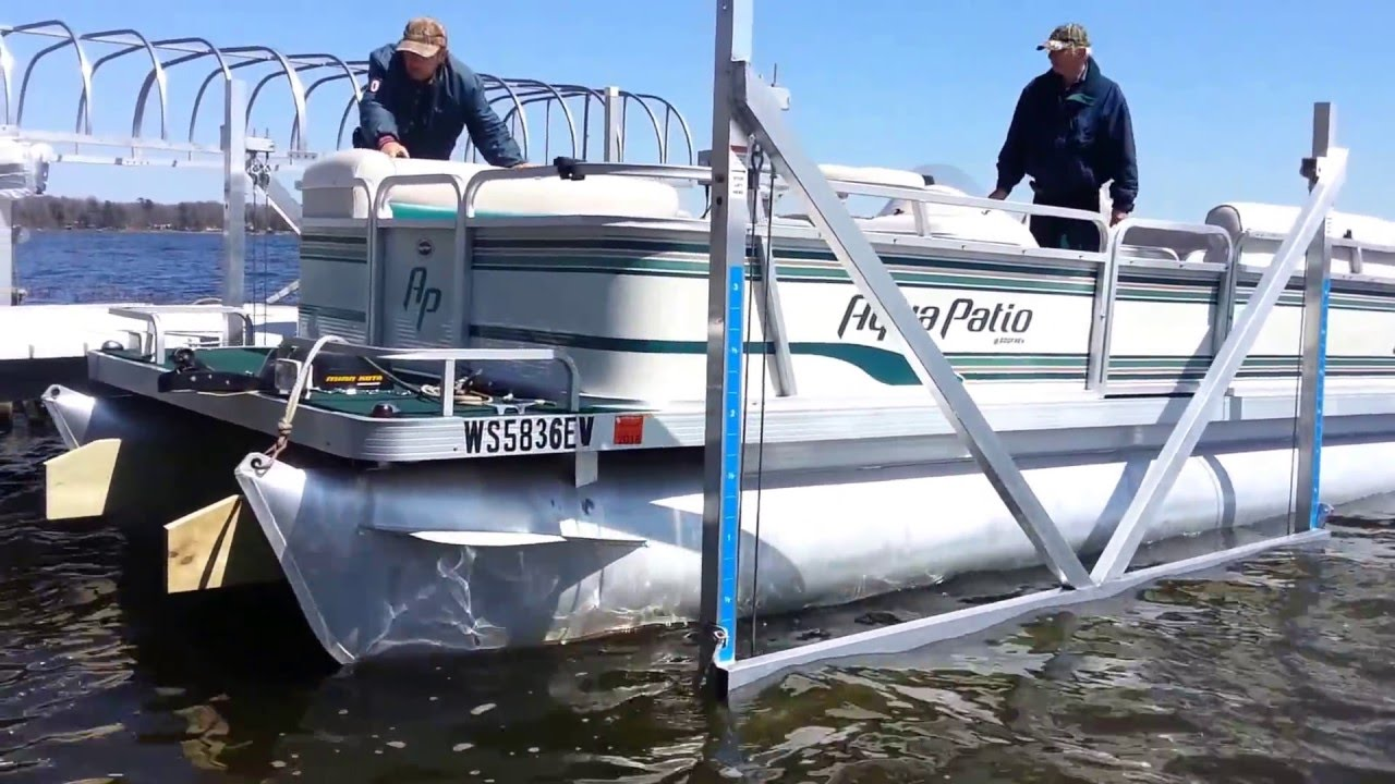 Vertical Boat Lift Custom Portable Docks And Lifts Youtube