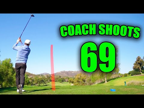COACH SHOOTS UNDER PAR AT TWIN OAKS GOLF COURSE!