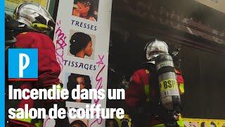 Paris : incendie dans un salon de coiffure rue de Clignancourt