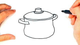 How to draw a Pot | Cooking Pot Easy Draw Tutorial