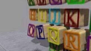 blender animation alphabet blocks
