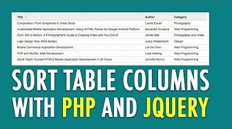 Sort table columns with PHP and jQuery - YouTube