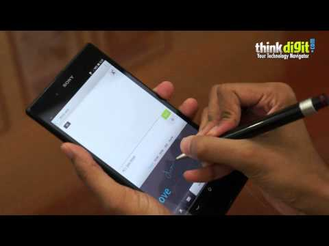 Sony Xperia Z Ultra - Any Pen Or Pencil Works As Stylus