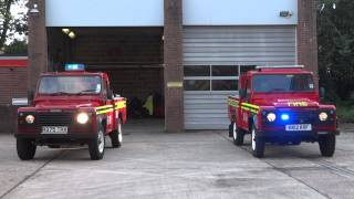 hampshire fire rescue service 58 hardley brand new land rover defender lpu blue lights