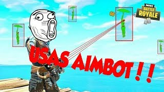 IT TELLS ME I USE AIMBOT!! | Terrain de jeux Fortnite Battle Royale