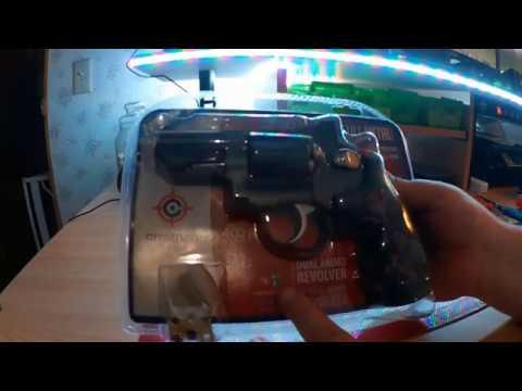2016 7 28 UnBoxing Crosman SNR357 CO2 Dual Ammo Full Metal Revolver air  pistol
