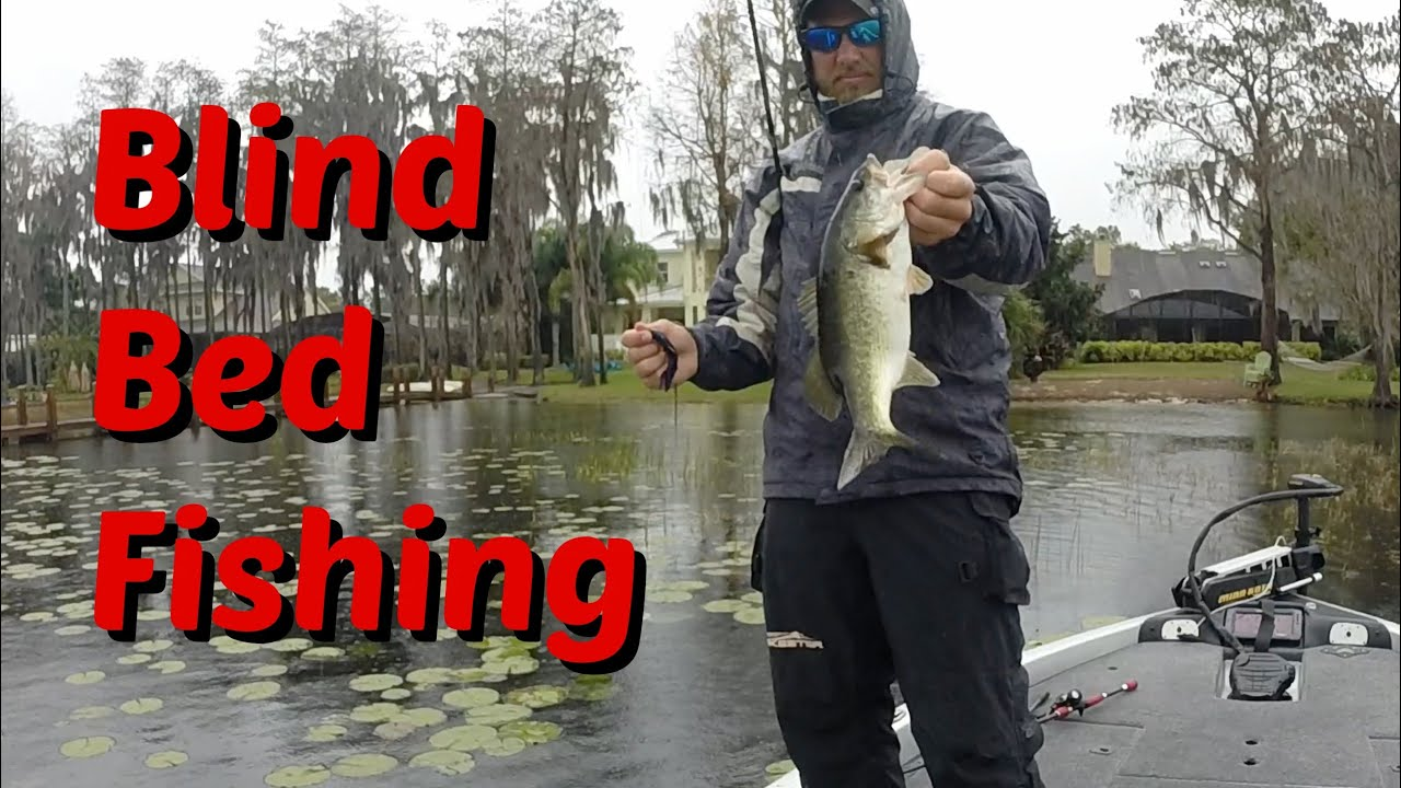 Blind Bed Fishing in Pads - YouTube