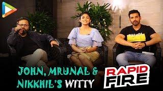 John, Mrunal & Nikkhil's ENTERTAINING Rapid Fire On SRK, Salman, Akshay, Deepika & Hrithik