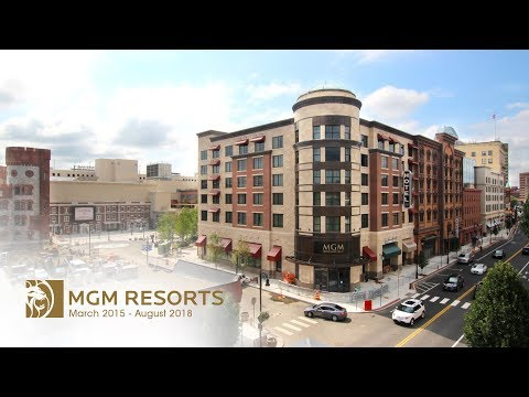 MGM Springfield Construction Time-Lapse