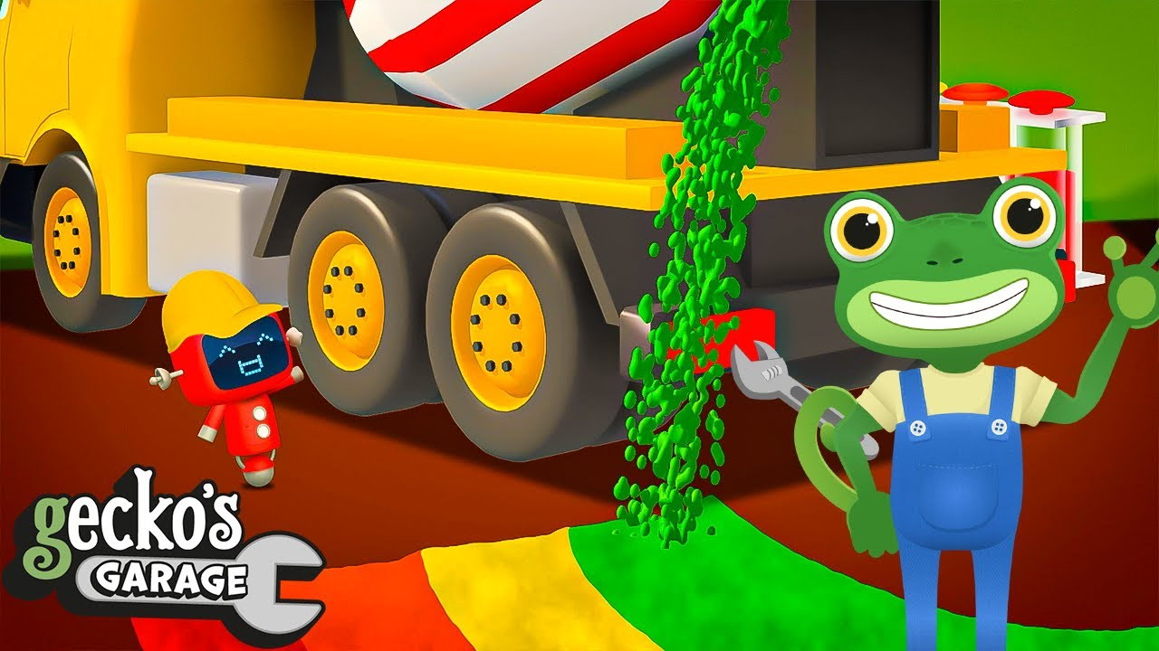 Celia The Cement Mixer's Rainbow Playground - Educational Videos for Kids