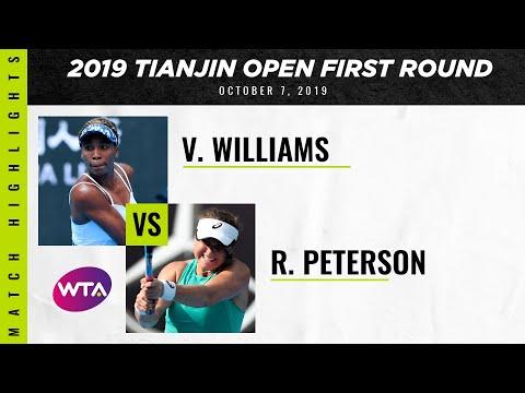 Venus Williams vs. Rebecca Peterson | 2019 Tianjin Open First Round | WTA Highlights