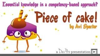 Bir Yetkinlik temel Bilgi Temelli Yaklaşım? Çocuk oyuncağı! - Avı tarafından Spector