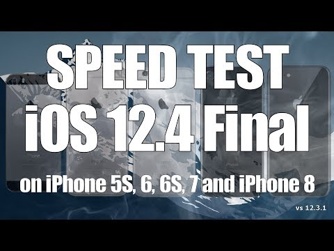 Speed Test : iOS 12.4 Final vs iOS 12.3.1 (Build 16G77)