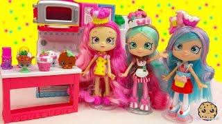 Chef Club Season 6 Shopkins Shoppies Doll Peppa Mint, Jessicake, Bubbleisha with Exclusives