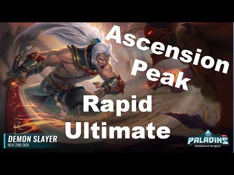 Paladins Patch OB 68 Siege of Ascension Peak Demon Slayer Skin Gameplay