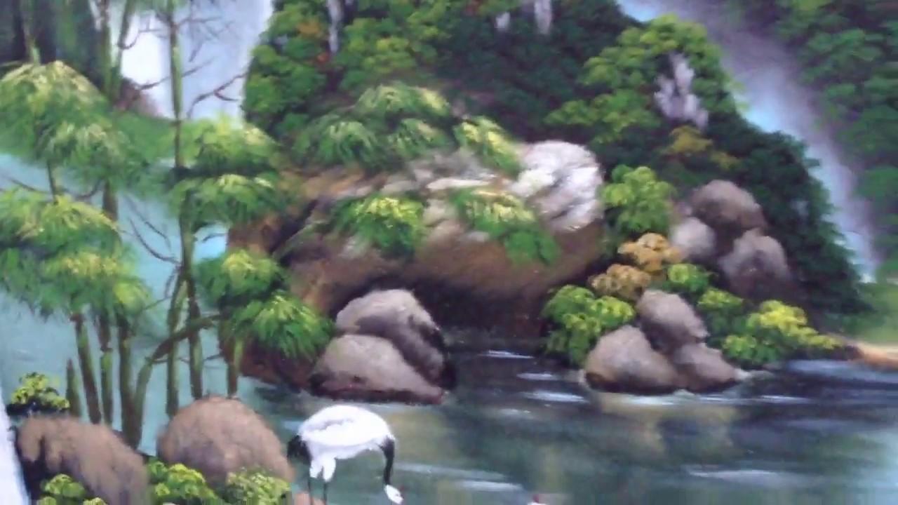 Vẽ tranh tường phong cảnh sông nước tại Thanh Xuân, Hà Nội – Vẽ tranh nghệ thuật cực đẹp LH Zalo 079