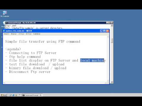 FTP command , Simple  upload / download file
