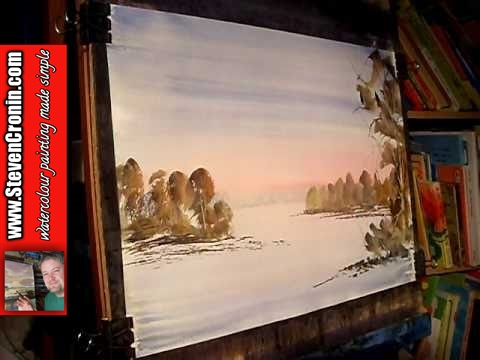 Watercolor Landscape Painting Demonstration Pype Hayes Park