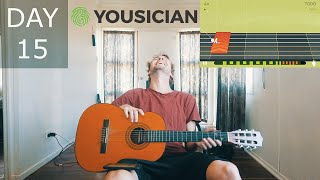 How I sound afтer thirty days of learning guitar (with Yousician)