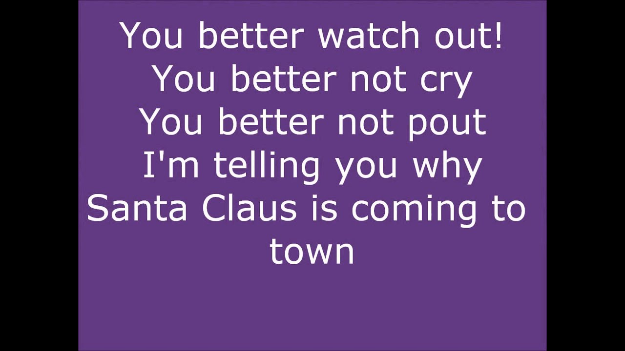Justin Bieber Santa Claus Is Coming To Town Lyrics On Screen Youtube