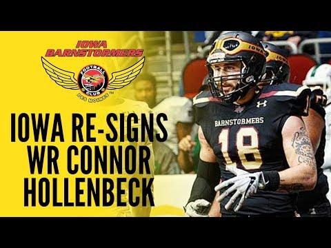 Barnstormers Re-Sign WR Connor Hollenbeck