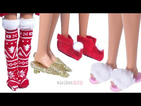 Easy DIY Barbie doll shoes and socks! NO-SEW Barbie clothes hacks