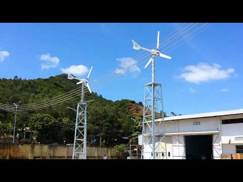 Hybrid off grid renewable energy system by Vietnam Eco-Solutions with VES Windspot wind turbine.