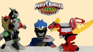 Power Rangers Dino Super Charge Rumble N Roar T Rex Zord Toys Unboxing Playing Ckn Toys