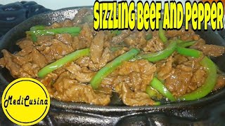 Sizzling Beef and Pepper | How to make Sizzling Beef and Pepper | Sizzling Beef