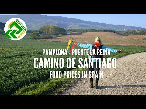 Camino de Santiago - from Pamplona to Puente la Reina. Food prices in Spain