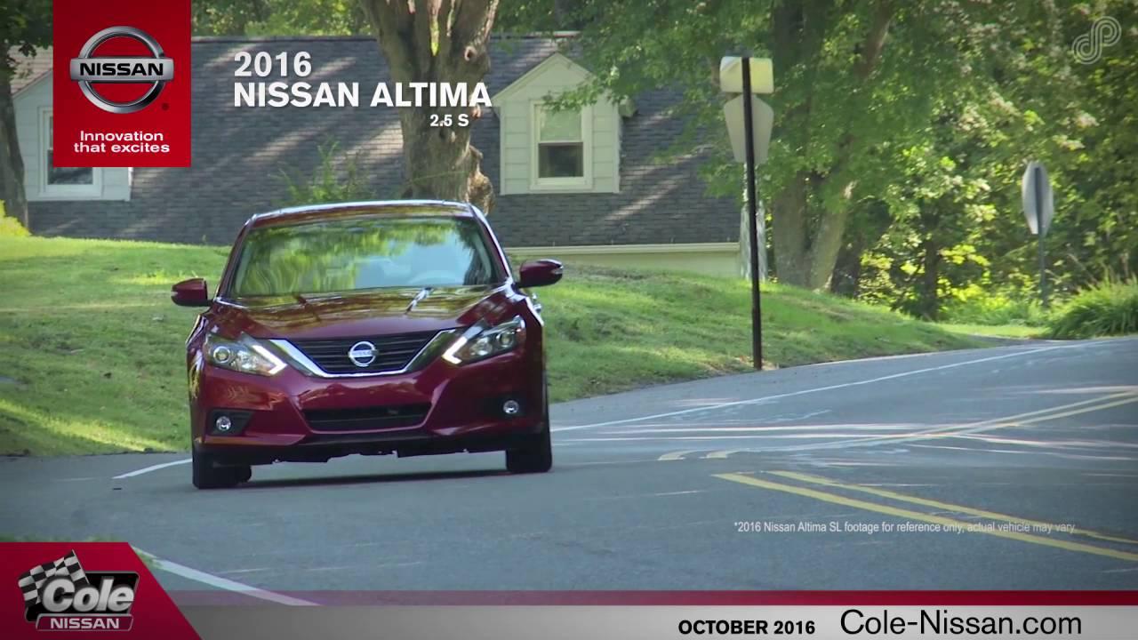2016 Nissan Altima 2.5 S Offer SP October Cole Nissan