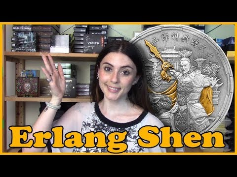 🇨🇳 ERLANG SHEN 🇨🇳 REVIEW - Chinese Mythology 2 Oz Silver Coin 5$ Niue 2018