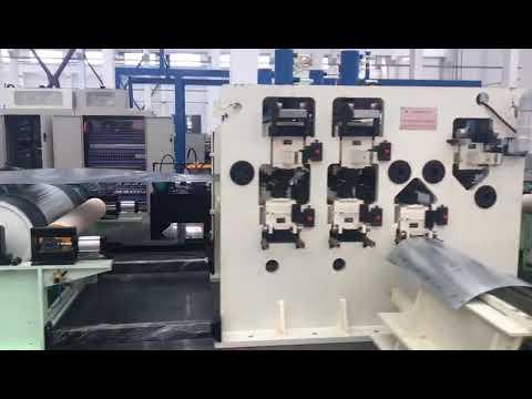 Metal plate embossing machine single side pattern