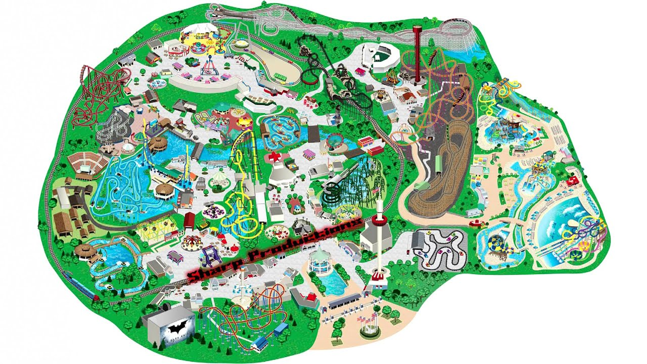 Six Flags Great America (Interactive Map!)   YouTube