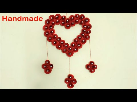 Heart Showpiece Making Using Paper || DIY || Handmade Crafts || How to make Showpiece at home