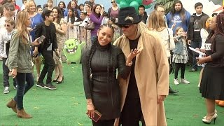 "Mel B & Stephen Belafonte ""The Angry Birds Movie"" Los Angeles Premiere Red Carpet"