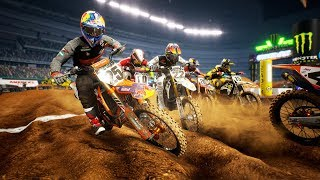 NEW MONSTER ENERGY SUPERCROSS GAME! MULTIPLAYER RACING IN THE 450CC CLASS (I SUCK)