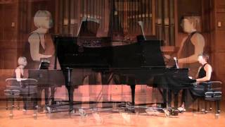 Mozart - Sonata for Two Pianos K.448 in D-major Elena Doubovitskaya and Irina Feoktistova