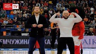 Владимир Минеев и Магомед Исмаилов посетили супер матч по баскетболу между ЦСКА и Барселоной.