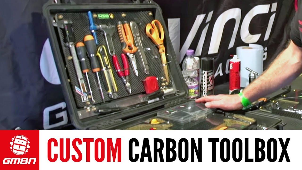 Carbon Fiber Bike >> Custom Carbon Fiber Toolbox Tour | Pro Downhill Mechanics - YouTube