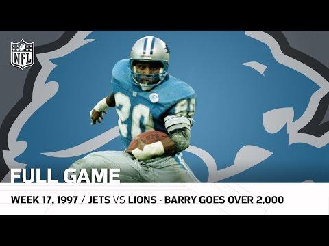 Barry Sanders Passes 2,000 Yards | New York Jets Vs. Detroit Lions (Week 17, 1997) | NFL Full Game