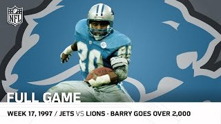 Barry Sanders Passes 2,000 Yards | New York Jets vs. Detroit Lions (Week 17, 1997) | NFL Full Game