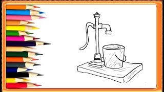 How to Draw a Hand Pump || Drawing Is Easy | YZArts