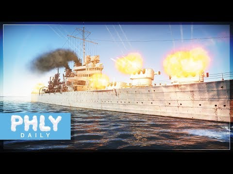 USS BROOKLYN 15 Guns = High Explosive Obliteration (War Thunder Naval Forces)