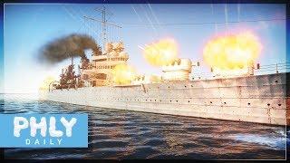 USS BROOKLYN 15 Guns = High Explosive Obliteration (War Thunder Naval Forces)